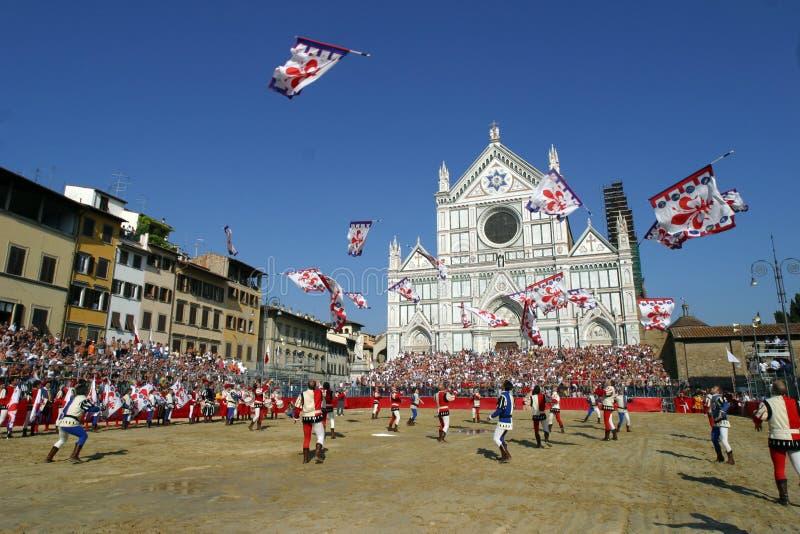 Calcio storicofiorentino, florence fotografering för bildbyråer