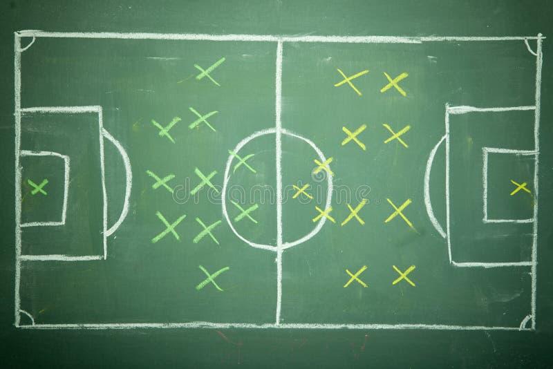 Calcio - strategia di gioco del calcio fotografia stock libera da diritti