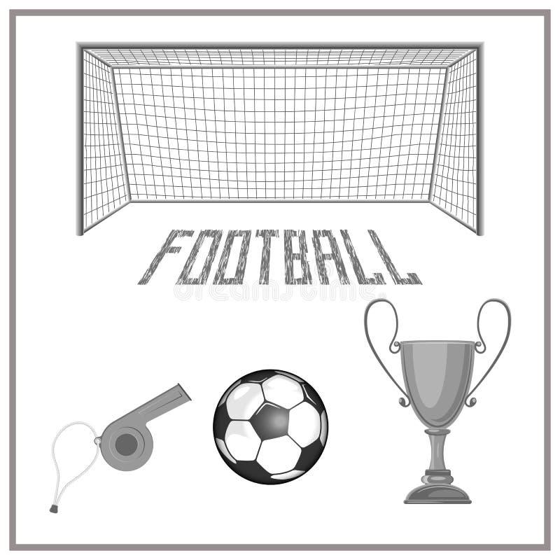 calcio, unendo l'intero mondo e la gente illustrazione di stock