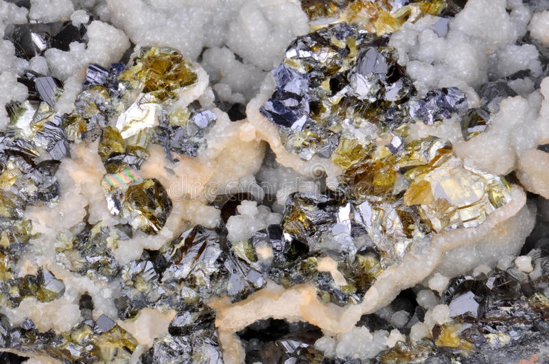 Download Calcite, Galena, Sphalerite Stock Image - Image: 27698357