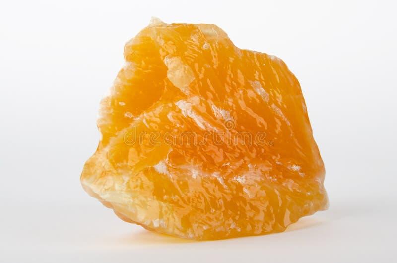 Calcite giallo arancione dal Messico fotografie stock libere da diritti