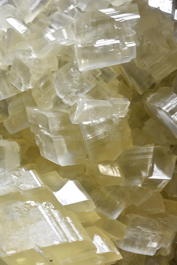 Calcite mine in crystal. Background in crystal and shape of calcite mine, shown as beautiful and featured color, pattern and texture royalty free stock photos