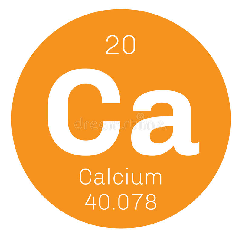 Calcium chemisch element vector illustratie