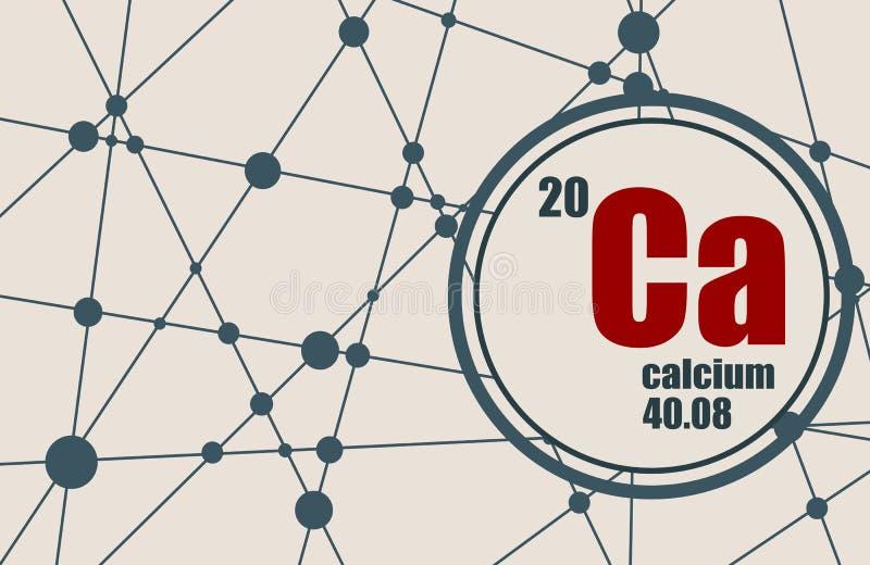 Calcium chemisch element royalty-vrije illustratie