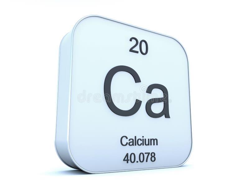 Calcium Element Symbol Stock Illustration Illustration Of White