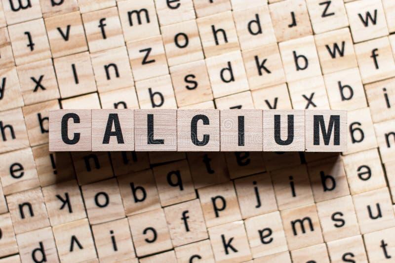 CALCIUM-ordkoncept royaltyfria foton