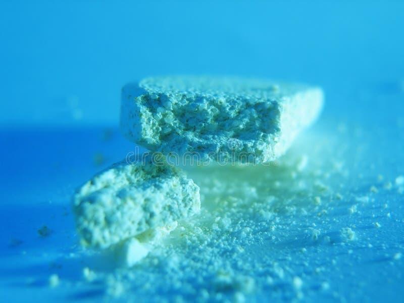 Calcium vitamines. One tablet calcium vitamines stock image