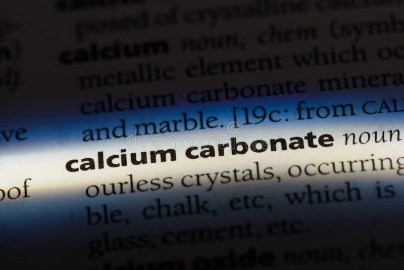 calciumcarbonate imagens de stock