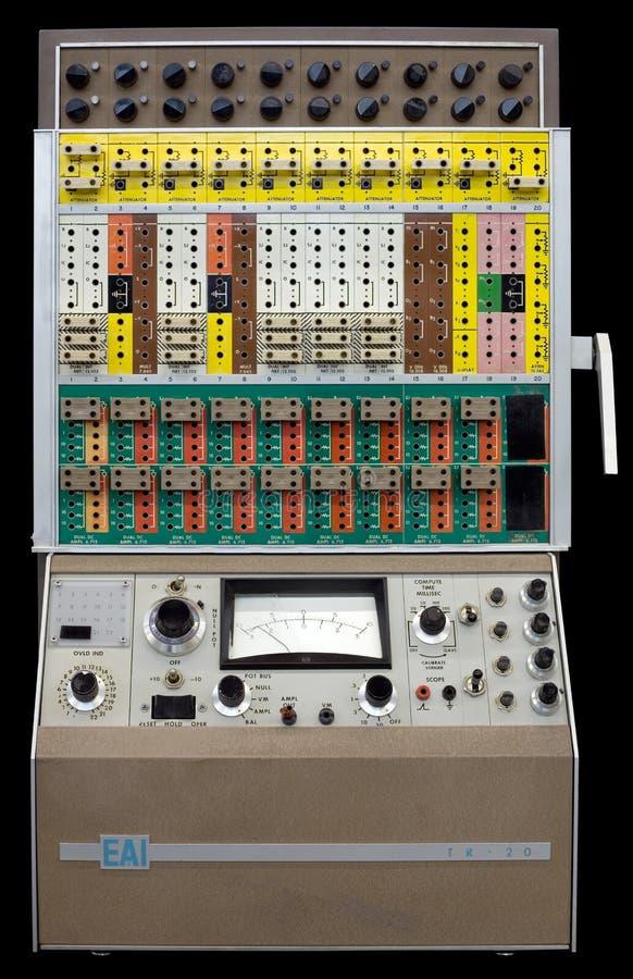 Calcolatore Analog da tavolino della VIA TR-20 immagine stock libera da diritti
