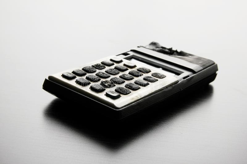 Calcolatore bruciato immagine stock libera da diritti