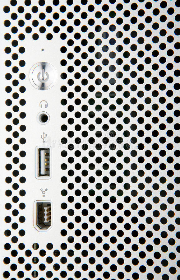 Calcolatore d'argento fronte fotografie stock libere da diritti