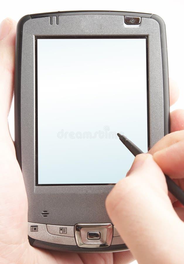 Calcolatore della casella in una mano. immagini stock