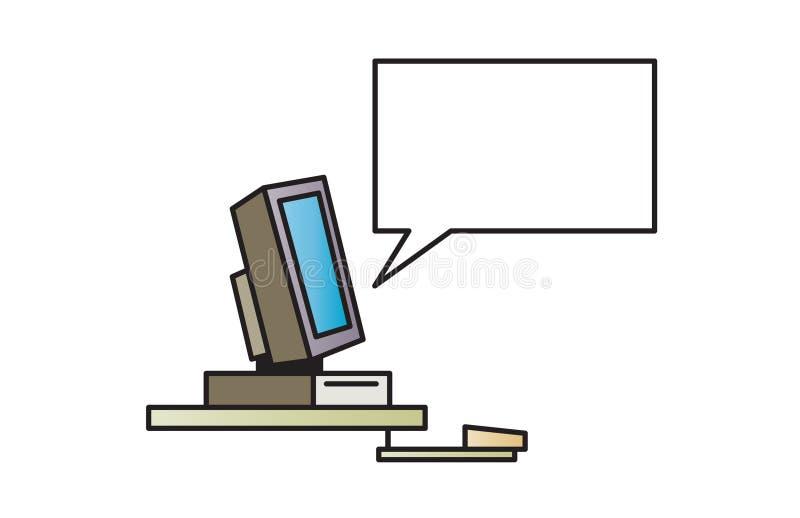 Calcolatore di conversazione - illustrazione immagini stock libere da diritti