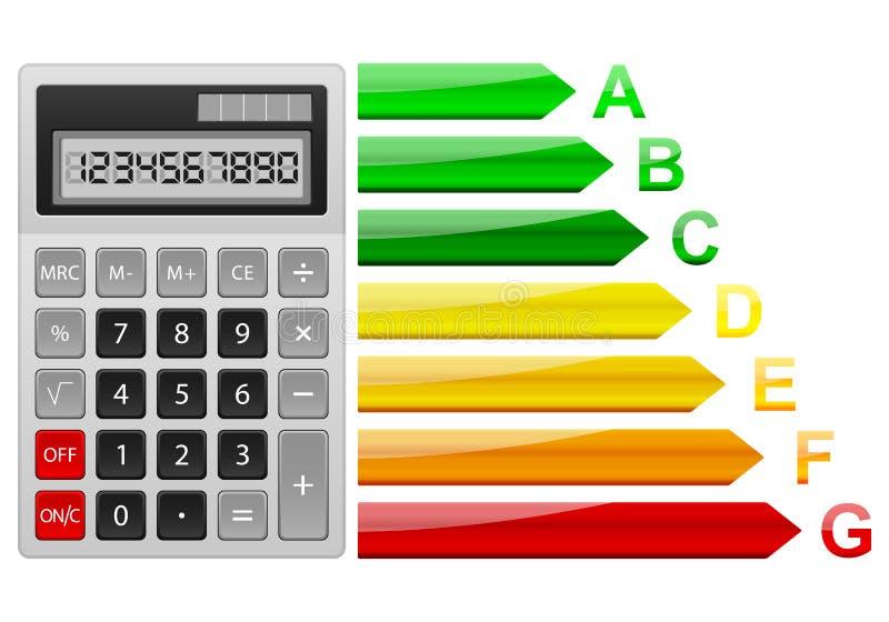 Calcolatore di rendimento energetico illustrazione vettoriale