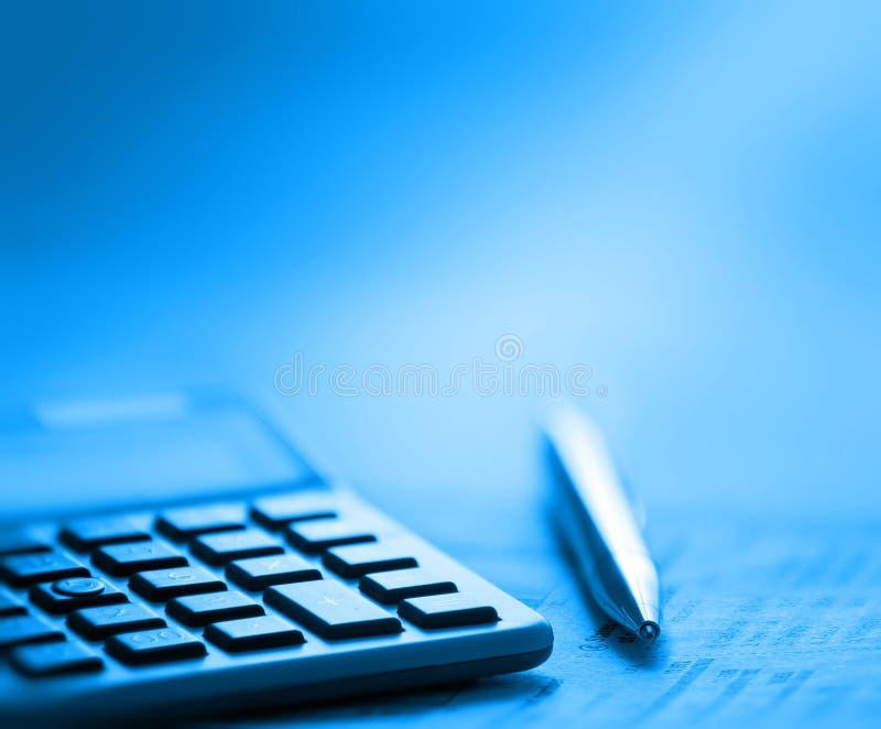 Calcolatore e penna immagini stock