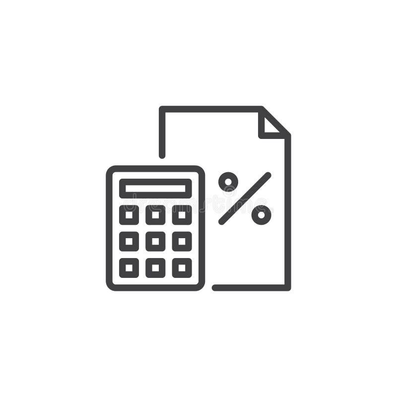 Calcolatore ed icona finanziaria del profilo del documento royalty illustrazione gratis