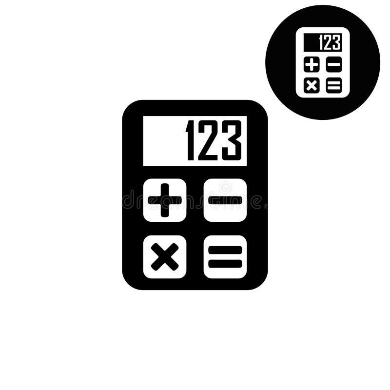 Calcolatore - icona bianca di vettore illustrazione di stock