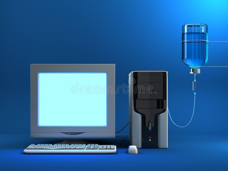 Calcolatore infettato illustrazione di stock