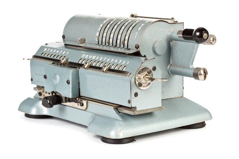 Calcolatore meccanico dell'annata immagini stock