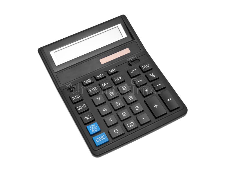 Calcolatore nero fotografie stock