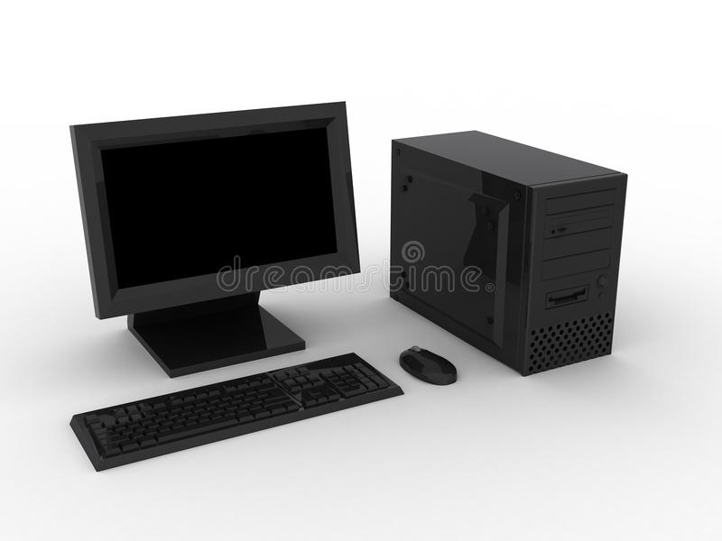 Computer nero fotografie stock