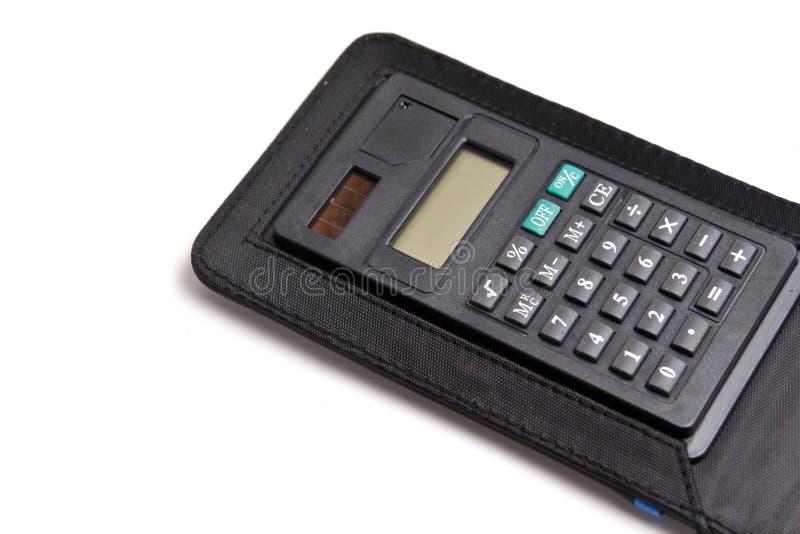 Calcolatore nero isolato a bianco immagini stock