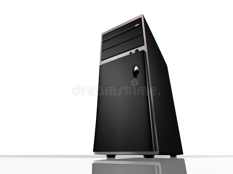 Calcolatore o server di modello della torretta illustrazione di stock