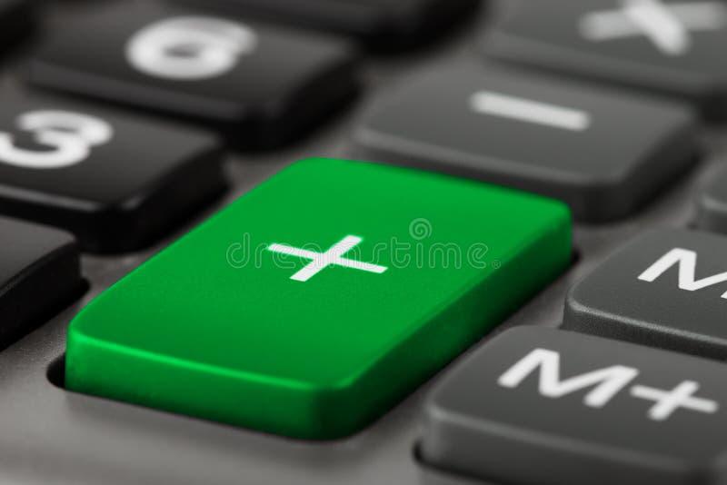 Calcolatore più il tasto immagini stock libere da diritti