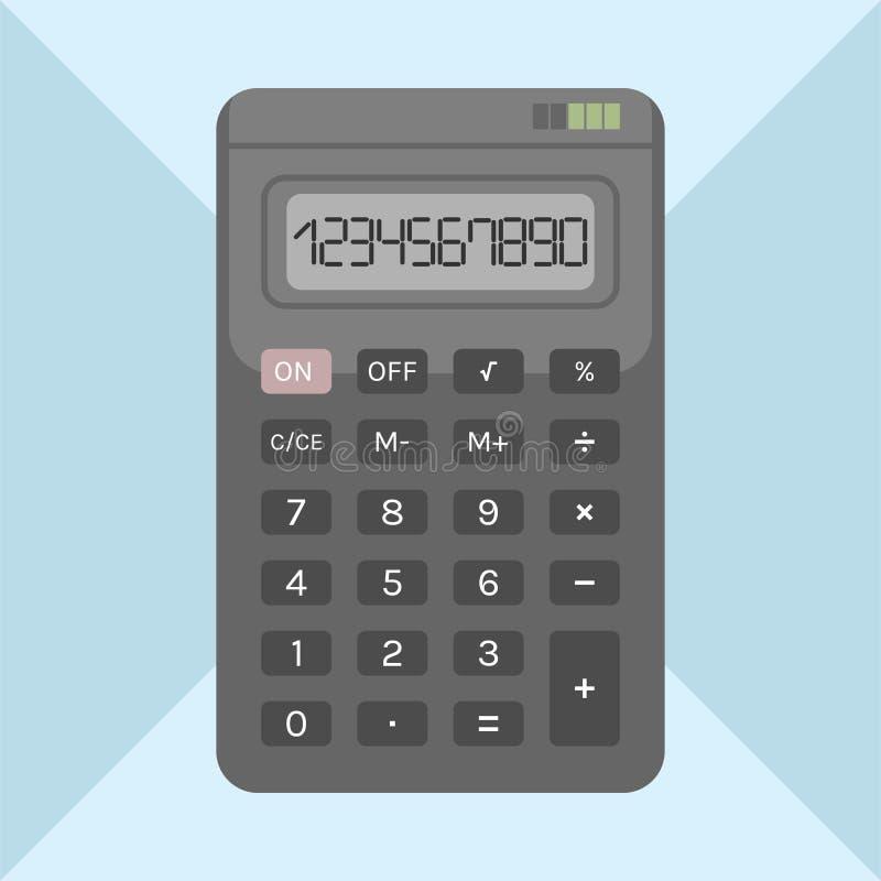 Calcolatore piano su fondo, oggetto illustrazione vettoriale