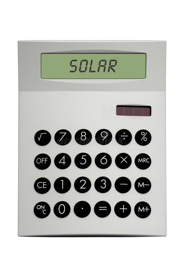 Calcolatore solare fotografia stock