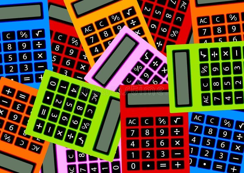 Calcolatori di colore illustrazione vettoriale