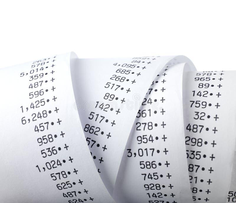 Calcoli di finanza fotografie stock
