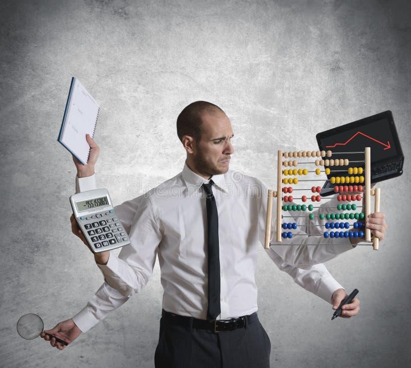 Calcoli e crisi immagine stock