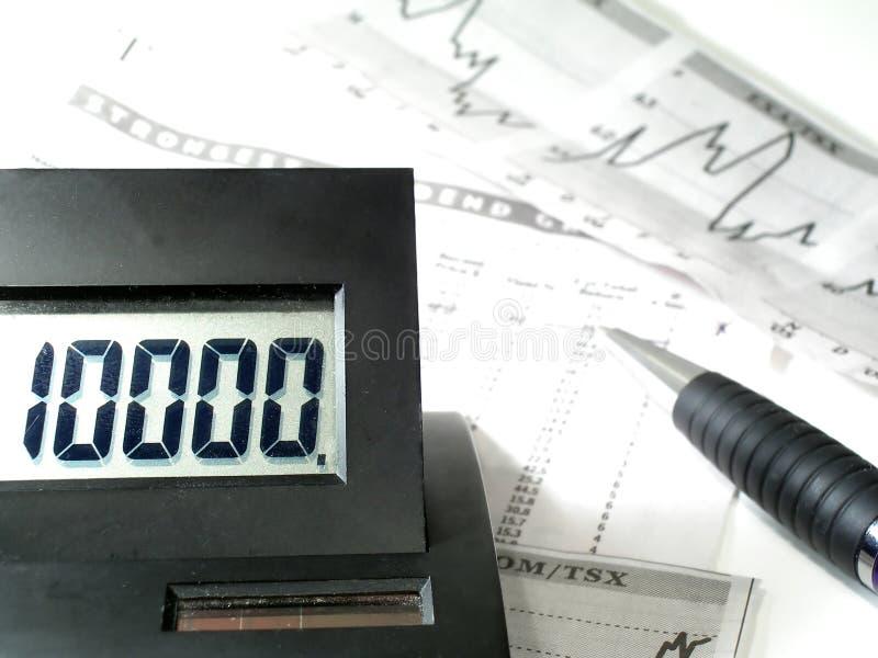 Calcolo di profitti e perdite fotografia stock