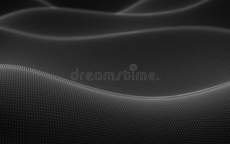 Calcul abstrait de nuage de fond illustration stock