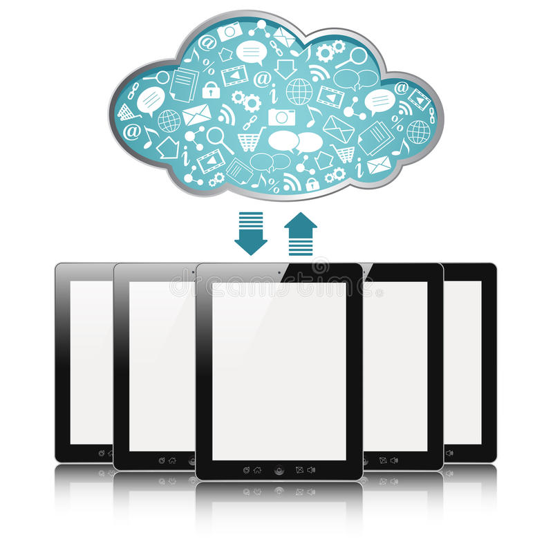Calcul de nuage illustration stock
