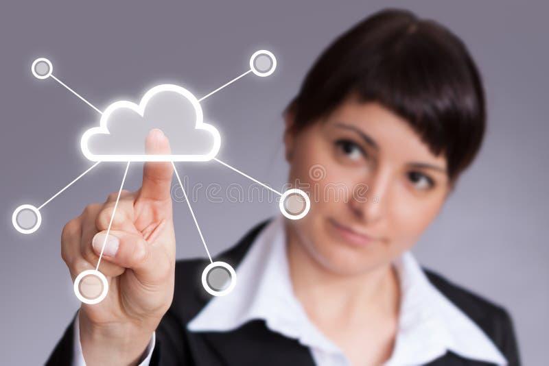 Calcul de nuage photographie stock libre de droits