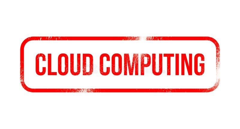 Calcul de nuage - le caoutchouc grunge rouge, timbre illustration stock