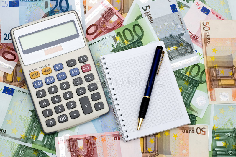 Calcul des finances photographie stock