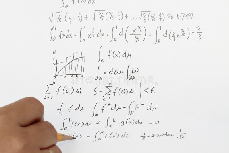 Calcul intégral photo stock