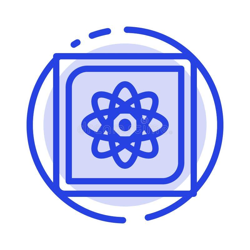 Calcul, ordinateur, calculant, données, future ligne pointillée bleue ligne icône illustration de vecteur