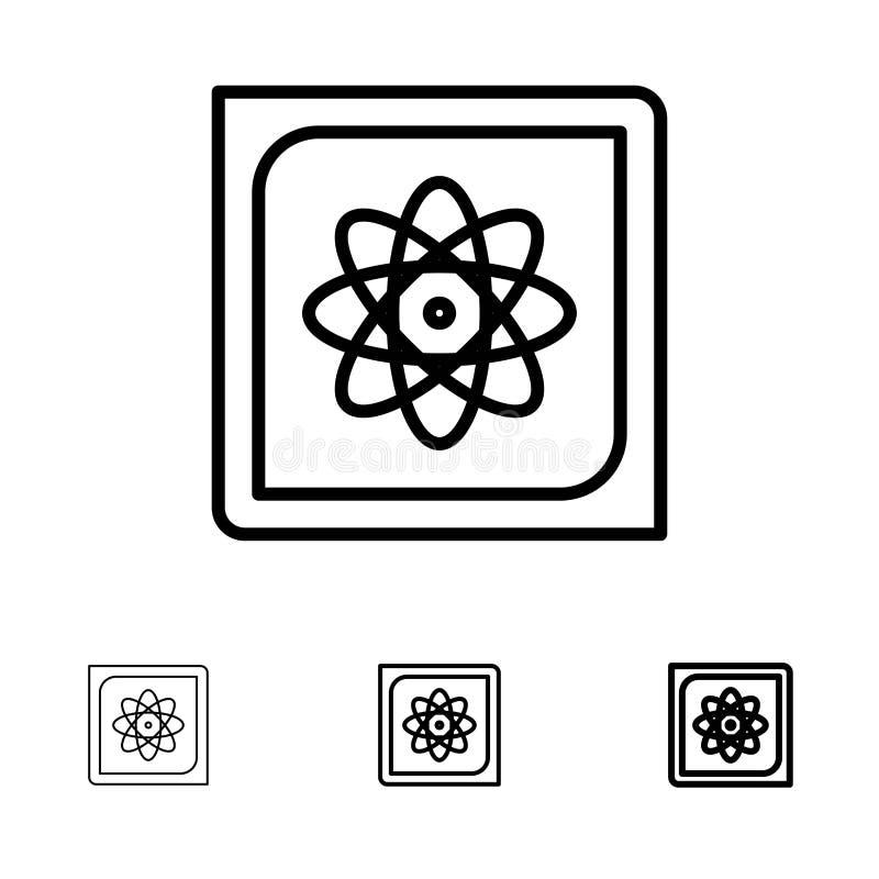 Calcul, ordinateur, calcul, données, future ligne noire audacieuse et mince ensemble d'icône illustration libre de droits