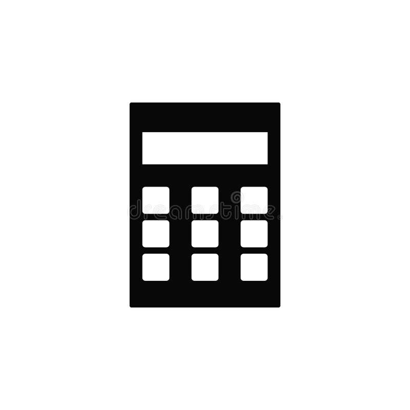 Calculadora, ícone Elemento do ícone simples para Web site, design web, app móvel, infographics Linha grossa ícone para o projeto ilustração royalty free