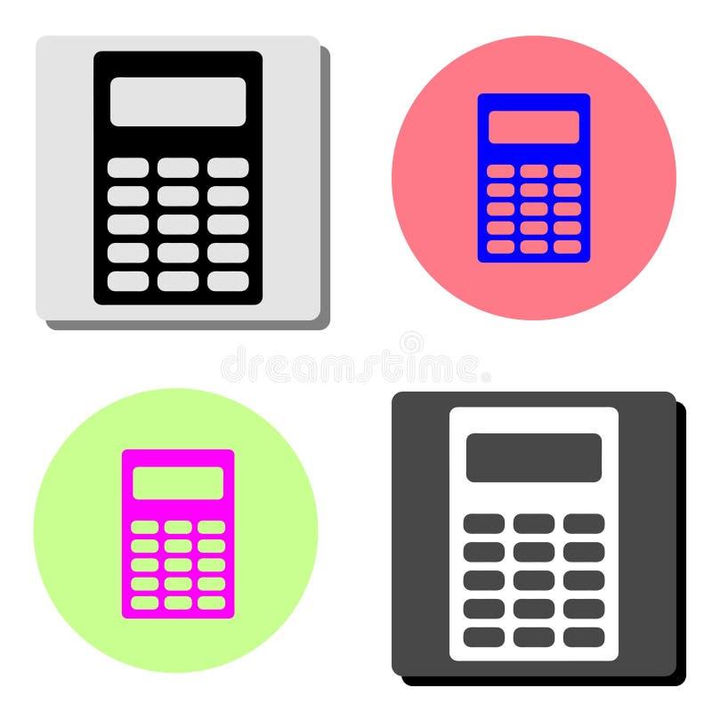 Calculadora Ícone liso do vetor ilustração stock