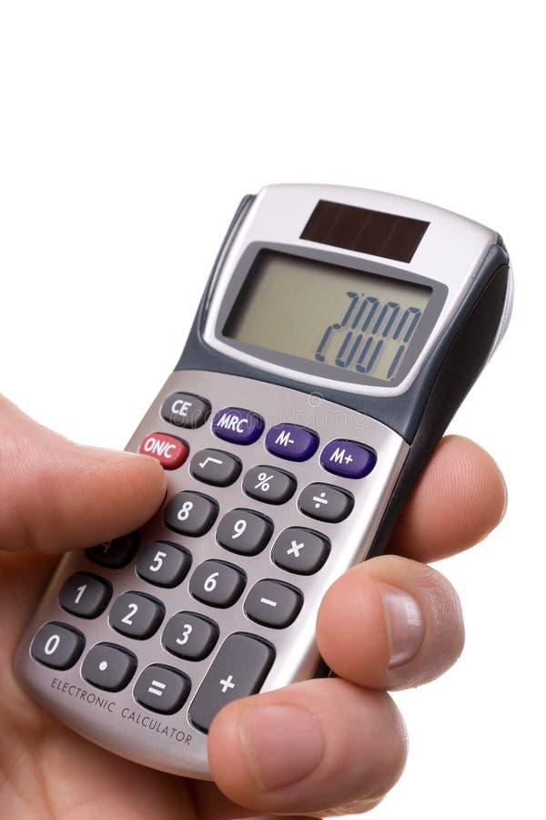 Calculadora 2007 imagen de archivo libre de regalías