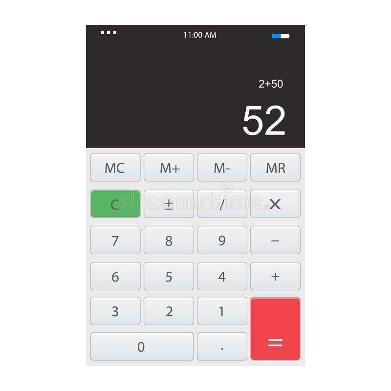 Calculadora app stock de ilustración
