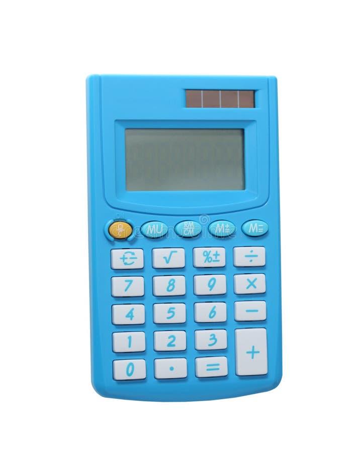 Calculadora azul fotografia de stock royalty free