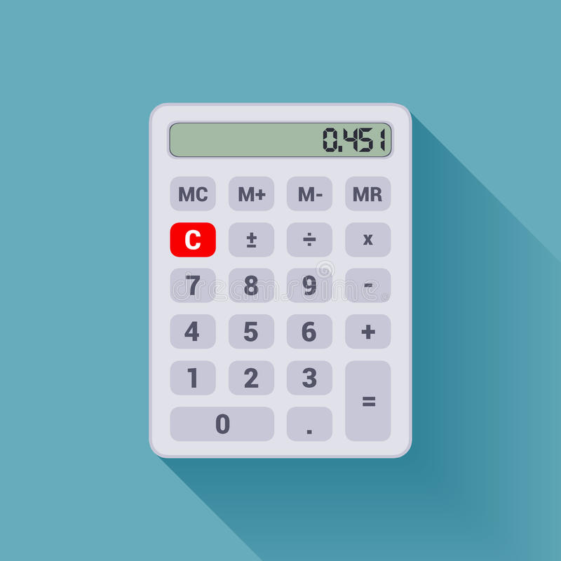 Calculadora blanca libre illustration