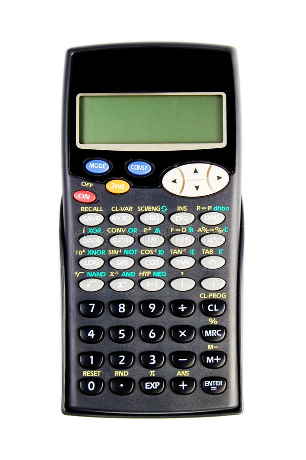 Calculadora científica foto de stock