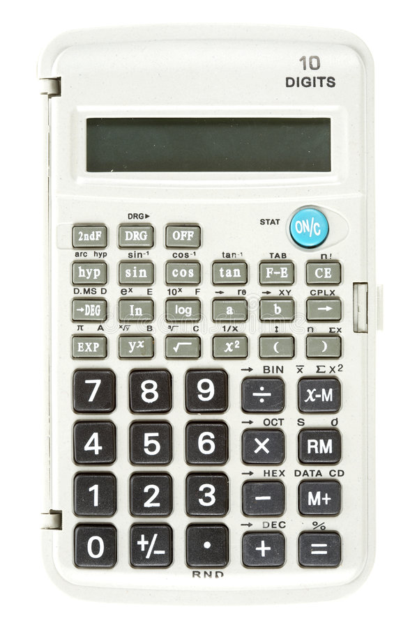 Calculadora científica fotografia de stock